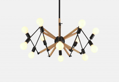 Spider Wood Lamp