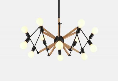 Spider Wood Lamp