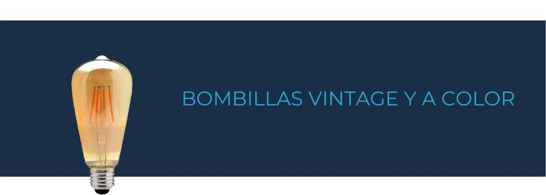 Bombillas vintage y a color
